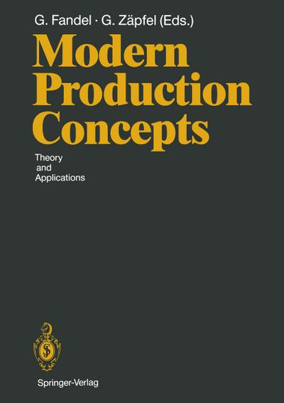 Modern Production Concepts