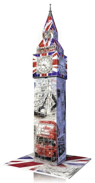 Big Ben Flag Edition. 3D Puzzle-Bauwerke