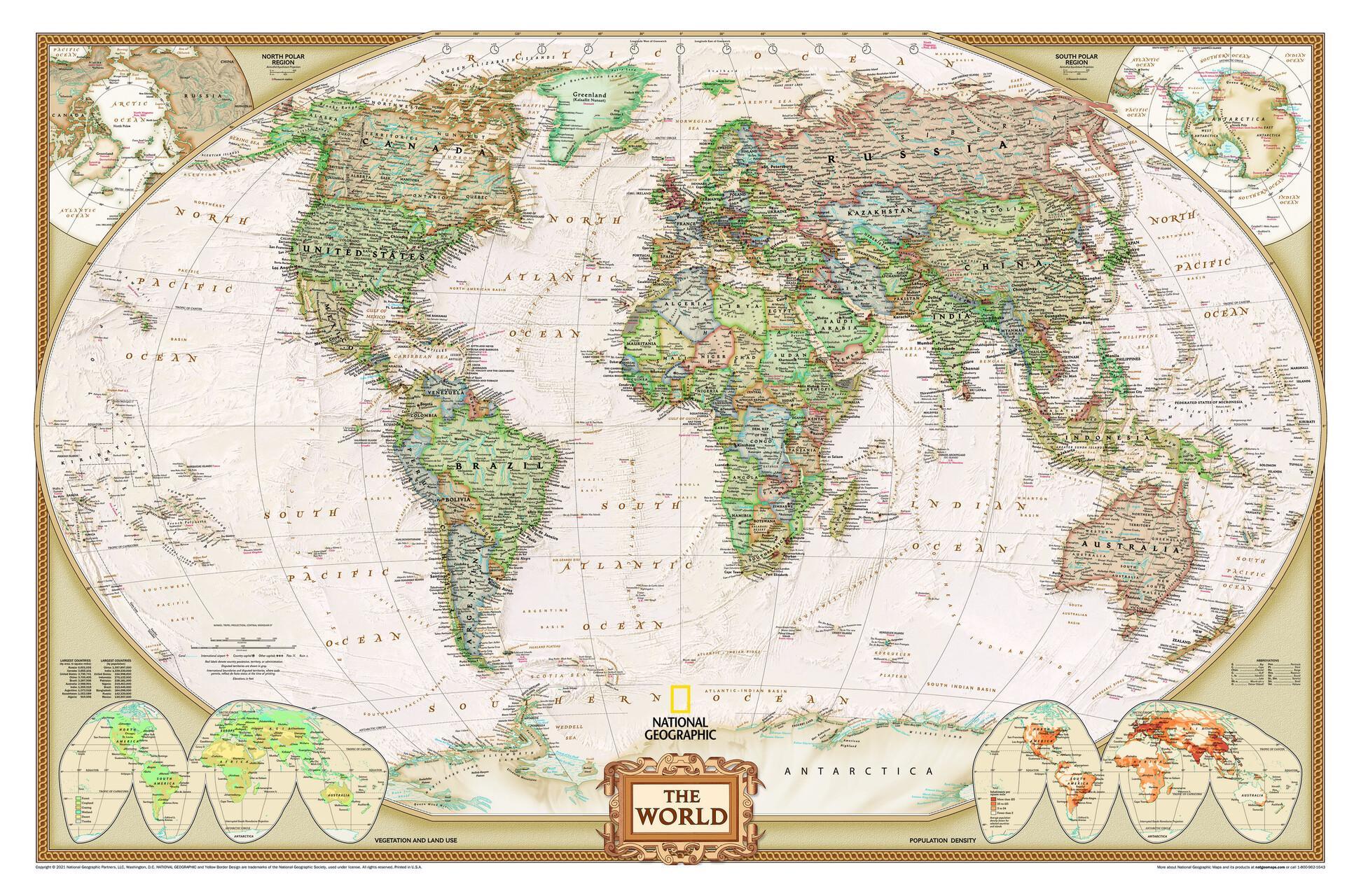 Weltkarte für Weltenbummler