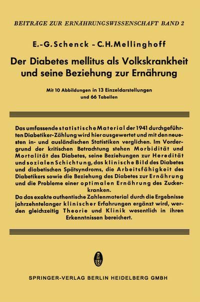 Der Diabetes Mellitus als Volkskrankheit und seine Beziehung zur Ernährung