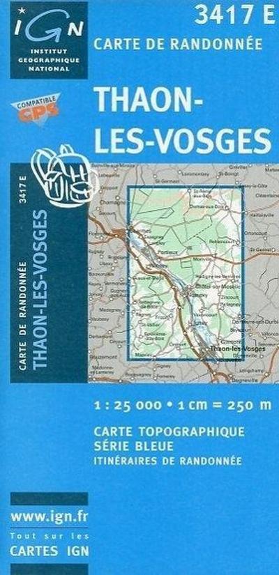 Thaon-Les-Vosges 1 : 25 000