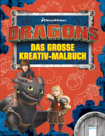 Dragons. Das große Kreativmalbuch; Ill. v. Golze, Lisa/Mei, Tron; Deutsch