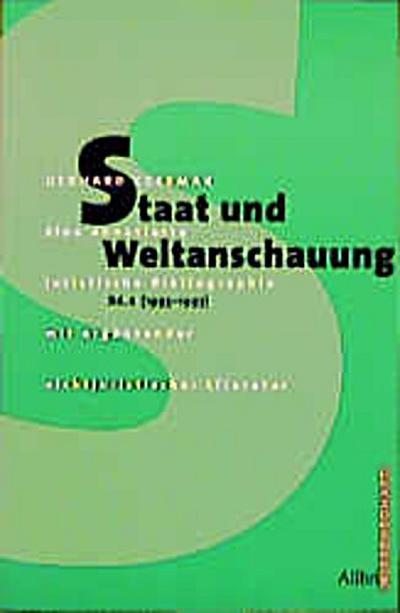 Staat und Weltanschauung Band 2 (1993-1997)