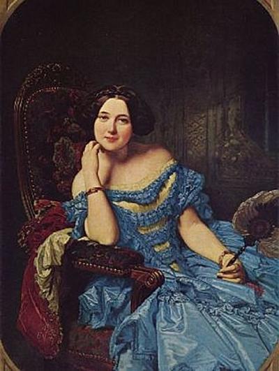 Federico de Madrazo y Kuntz - Porträt der Doña Amalie de Llano y Dotres, Condesa de Vilches - 200 Teile (Puzzle)