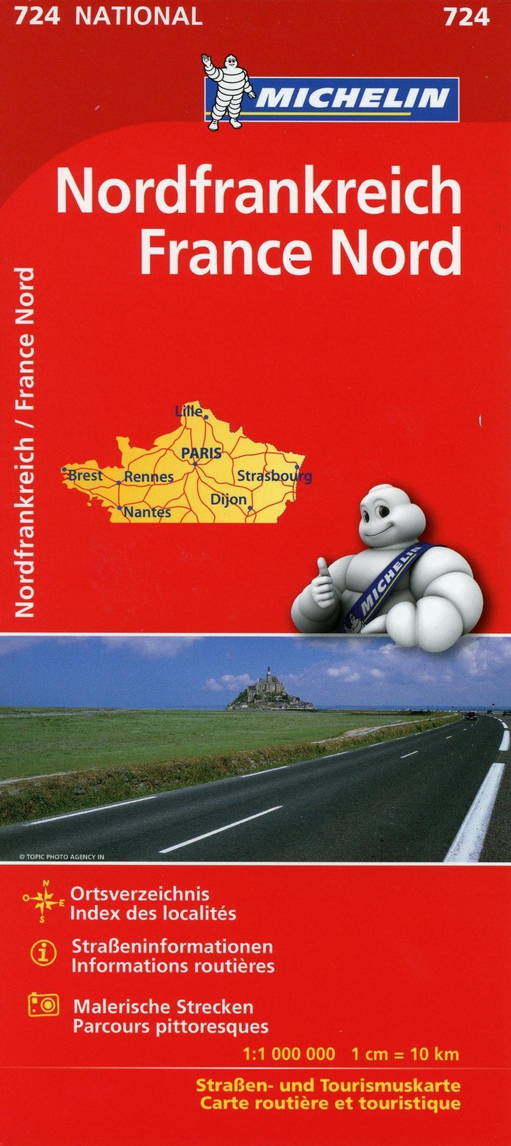 Michelin Nordfrankreich 1 : 1 000 000 Michelin