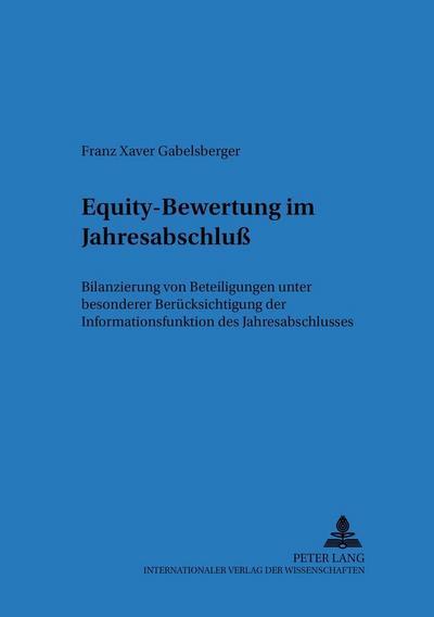 Equity-Bewertung im Jahresabschluß