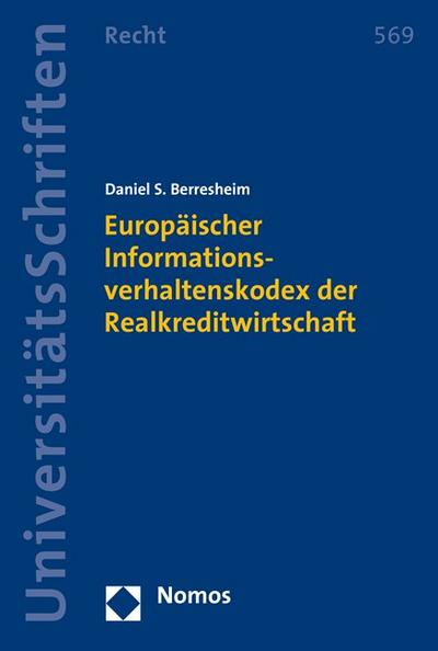 Europäischer Informationsverhaltenskodex der Realkreditwirtschaft