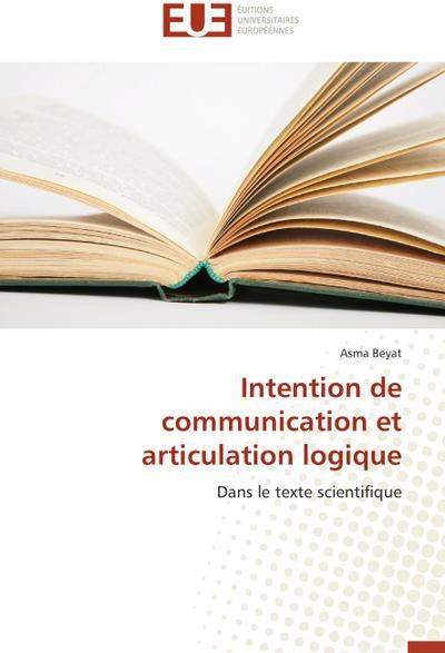 Intention de communication et articulation logique