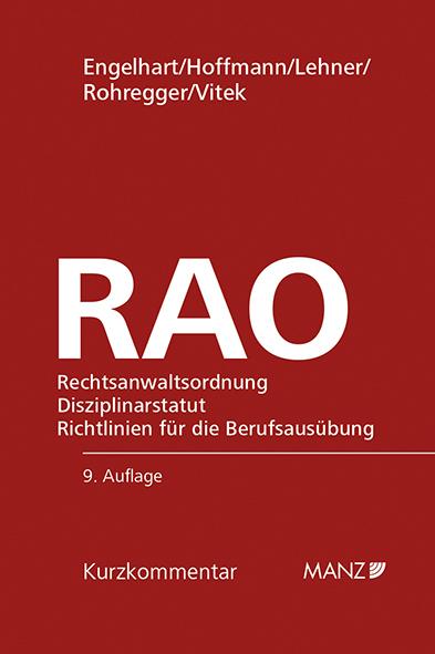 Rechtsanwaltsordnung (RAO) (f. Österreich) Karl F. Engelhart