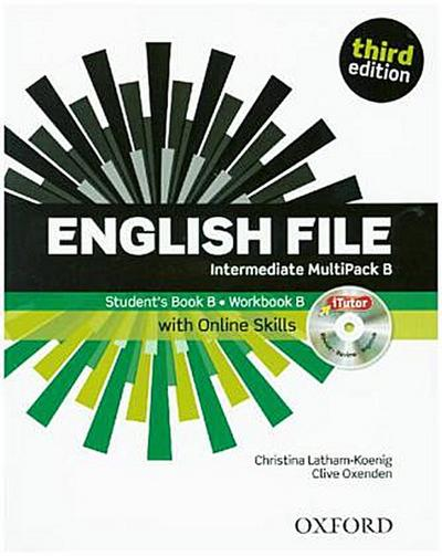 English File, Intermediate, Third Edition Multipack B, Student's Book B and Workbook B, with iTutor DVD-ROM and Online Skills