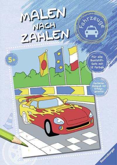Malen nach Zahlen: Fahrzeuge; Ill. v. Bunse, Rolf; Deutsch; durchg. farb. Ill.
