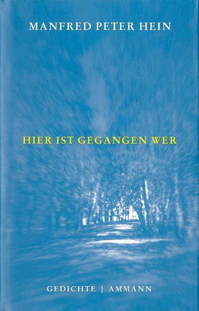 Hier ist gegangen wer: Gedichte 1993-2000