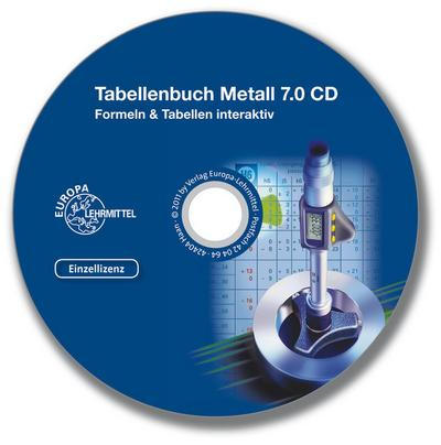 Tabellenbuch Metall digital - Formeln & Tabellen interaktiv - Version 6.0. CD-ROM für Windows ab 98