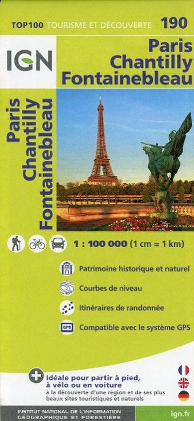 IGN 1 : 100 000 Paris - Chantilly