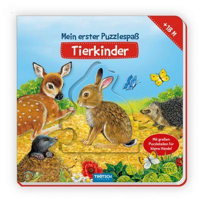 Trötsch Puzzlebuch Mein erster Puzzlespaß Tierkinder