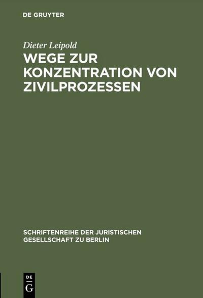 Wege zur Konzentration von Zivilprozessen