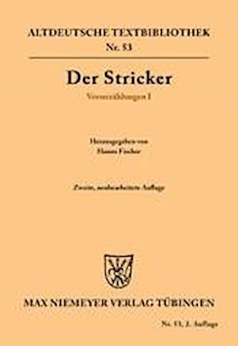 Der Stricker / Verserzählungen I 9783110483369