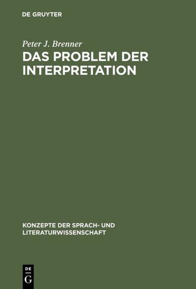 Das Problem der Interpretation