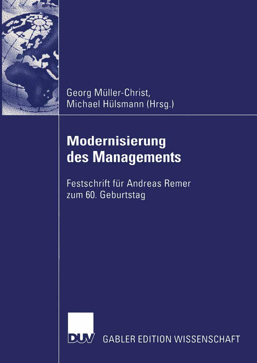 Modernisierung des Managements - Michael Hülsmann -  9783824481149