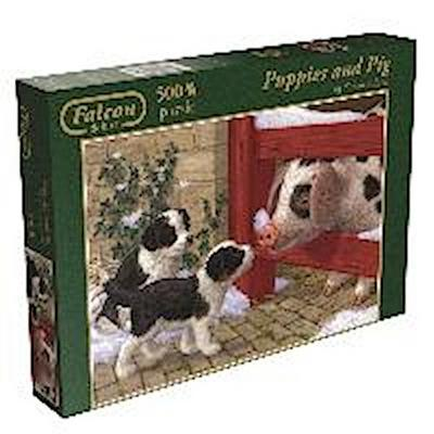 Falcon - Puppies and Piglet - Puzzle 500 Teile