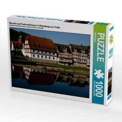 Marstall und Fachwerkhäuser in Rotenburg a.d. Fulda (Puzzle)