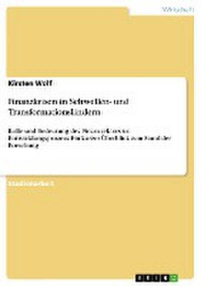 Finanzkrisen in Schwellen- und Transformationsländern: Rolle und Bedeutung des Finanzsektors im Entwicklungsprozess: Ein kurzer Überblick zum Stand der Forschung