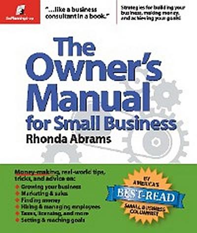The Owner's Manual for Small Business