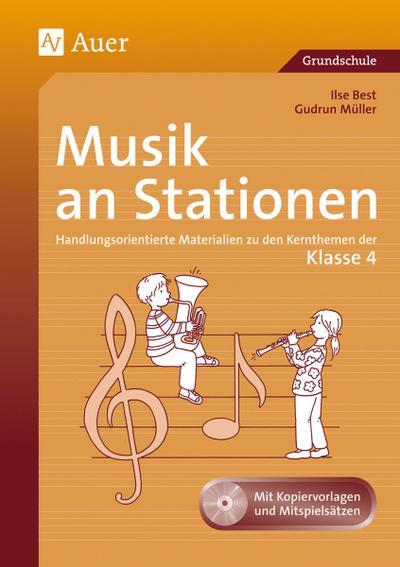 Musik an Stationen, Klasse 4, m. Audio-CD