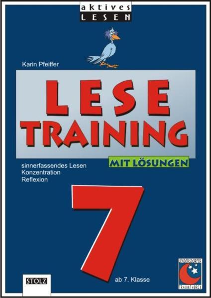 Lesetraining Ab 7. Klasse ~ Karin Pfeiffer ~  9783897780378
