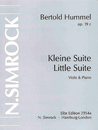 Kleine Suite op.19cfür Viola und Klavier