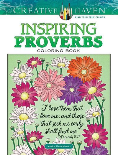 Creative Haven Inspiring Proverbs Coloring Book