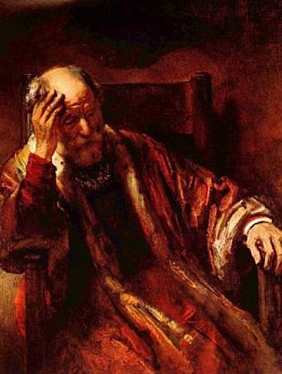 Rembrandt Harmensz. van Rijn - Alter Mann im Lehnstuhl - 1.000 Teile (Puzzle)