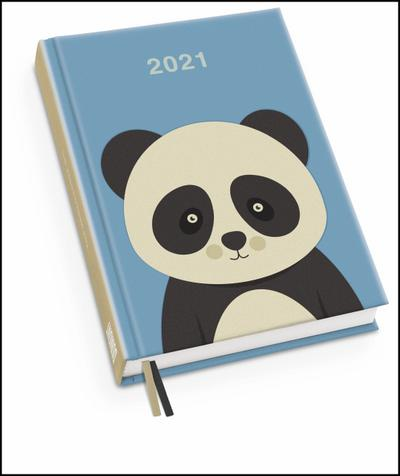 Pandabär Taschenkalender 2021 - Terminplaner mit Wochenkalendarium
