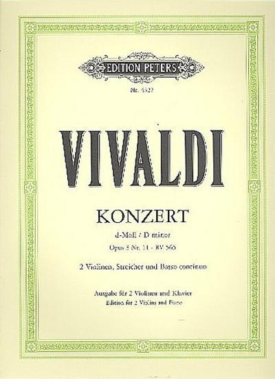 Konzert für 2 Violinen, Streicher und Basso continuo d-moll op. 3 Nr. 11 RV 565