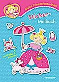 Meine Prinzessinnen-Welt: Sticker-Malbuch; Malbücher und -blöcke; Ill. v. Schmidt, Sandra; Deutsch; mit Stickerbogen, s/w