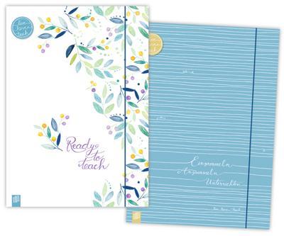 Meine 2 Sammelmappen DIN A4+ 'live - love - teach' Edition Blumen & Linien