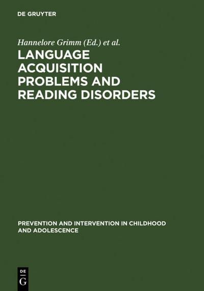 Language acquisition problems and reading disorders