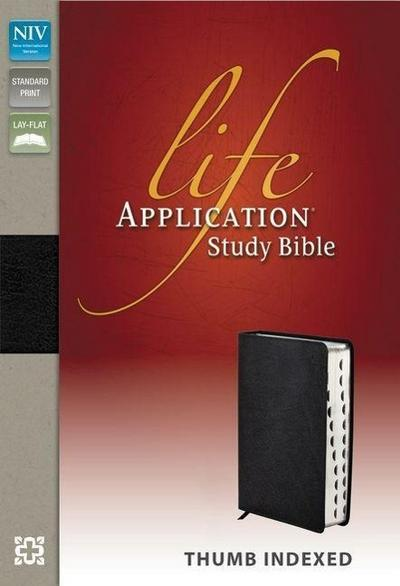 NIV, Life Application Study Bible, Genuine Leather, Black, I