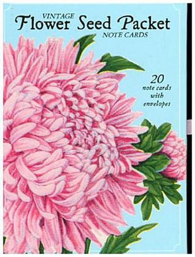 Vintage Flower Seed Packet Note Cards