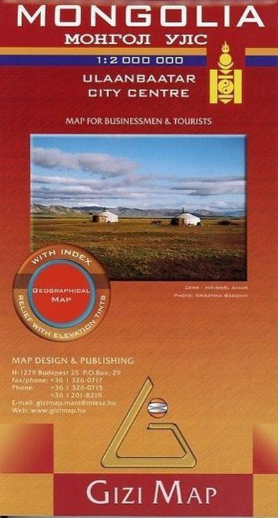 Mongolia Geographical Map 1 : 2 000 000