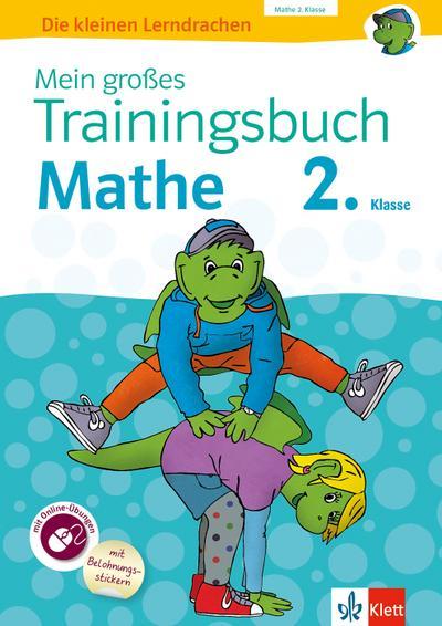 Mein großes Trainingsbuch Mathematik 2. Klasse.  Mit Online-Übungen und Belohnungsstickern