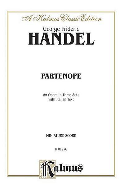 Partenope (1730): Miniature Score (Italian Language Edition), Miniature Score