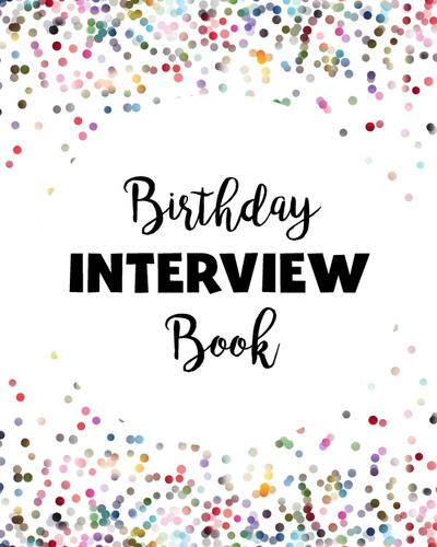 Birthday Interview Book Confetti Softcover