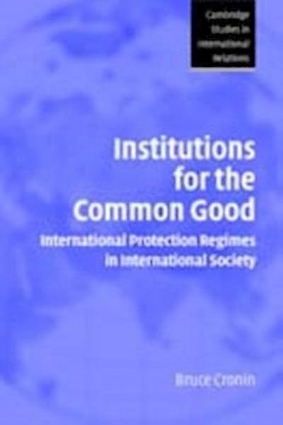 Institutions for the Common Good