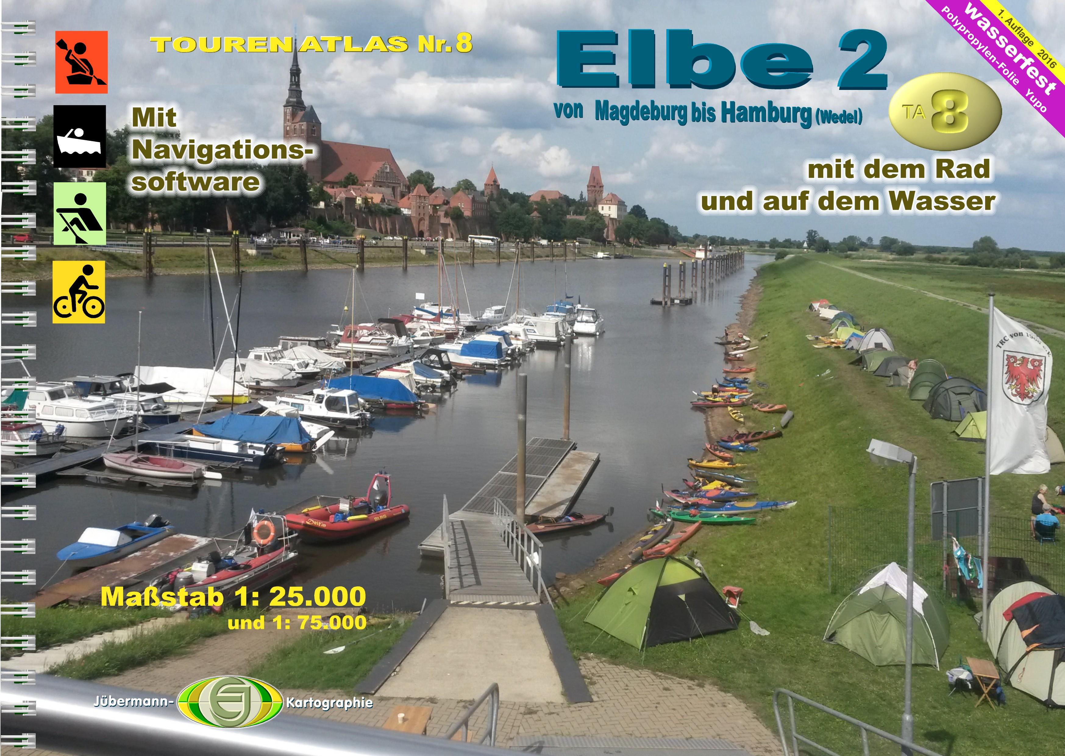 TourenAtlas 08  Elbe-2 von Magdeburg bis Hamburg,