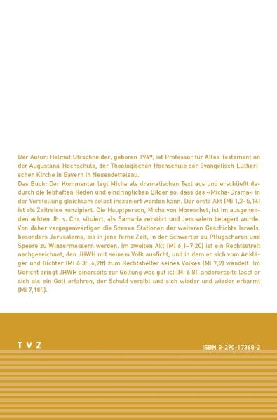 Micha | Helmut Utzschneider |  9783290173685