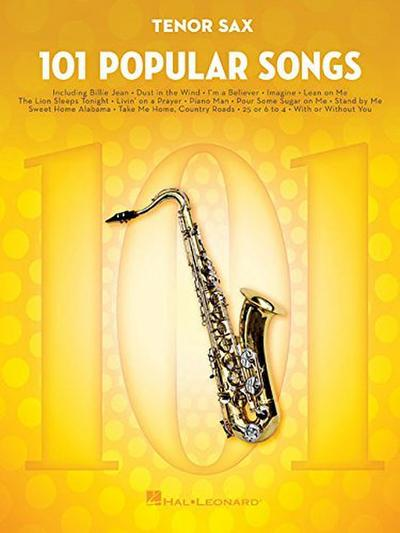 101 Popular Songs -For Tenor Saxophone-