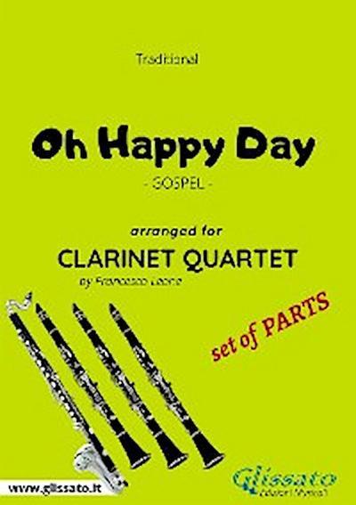 Oh Happy Day - Clarinet Quartet set of PARTS