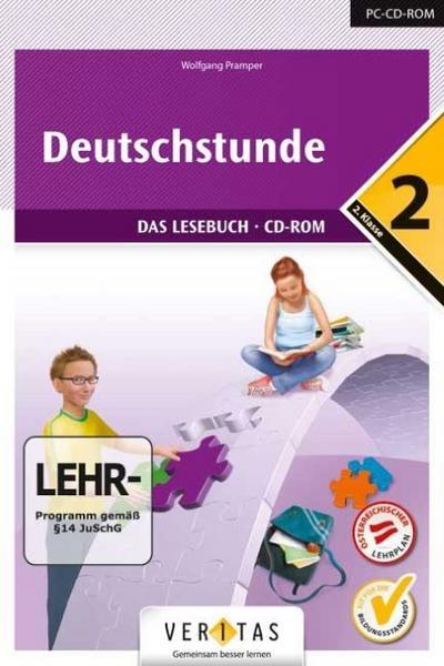 Deutschstunde 6. Schuljahr - CD-ROM zum Lesebuch - Veritas Verlag - CD-ROM, Deutsch, Wolfgang Pramper, Bd 2, Das Lesebuch, LEHR-Programm, CD-ROM (EL - Einzellizenz) für Windows 2000/XP/Vista/7/8, Bd 2, Das Lesebuch, LEHR-Programm, CD-ROM (EL - Einzellizenz) für Windows 2000/XP/Vista/7/8