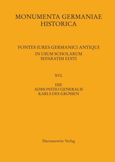 Die Admonitio generalis Karls des Großen